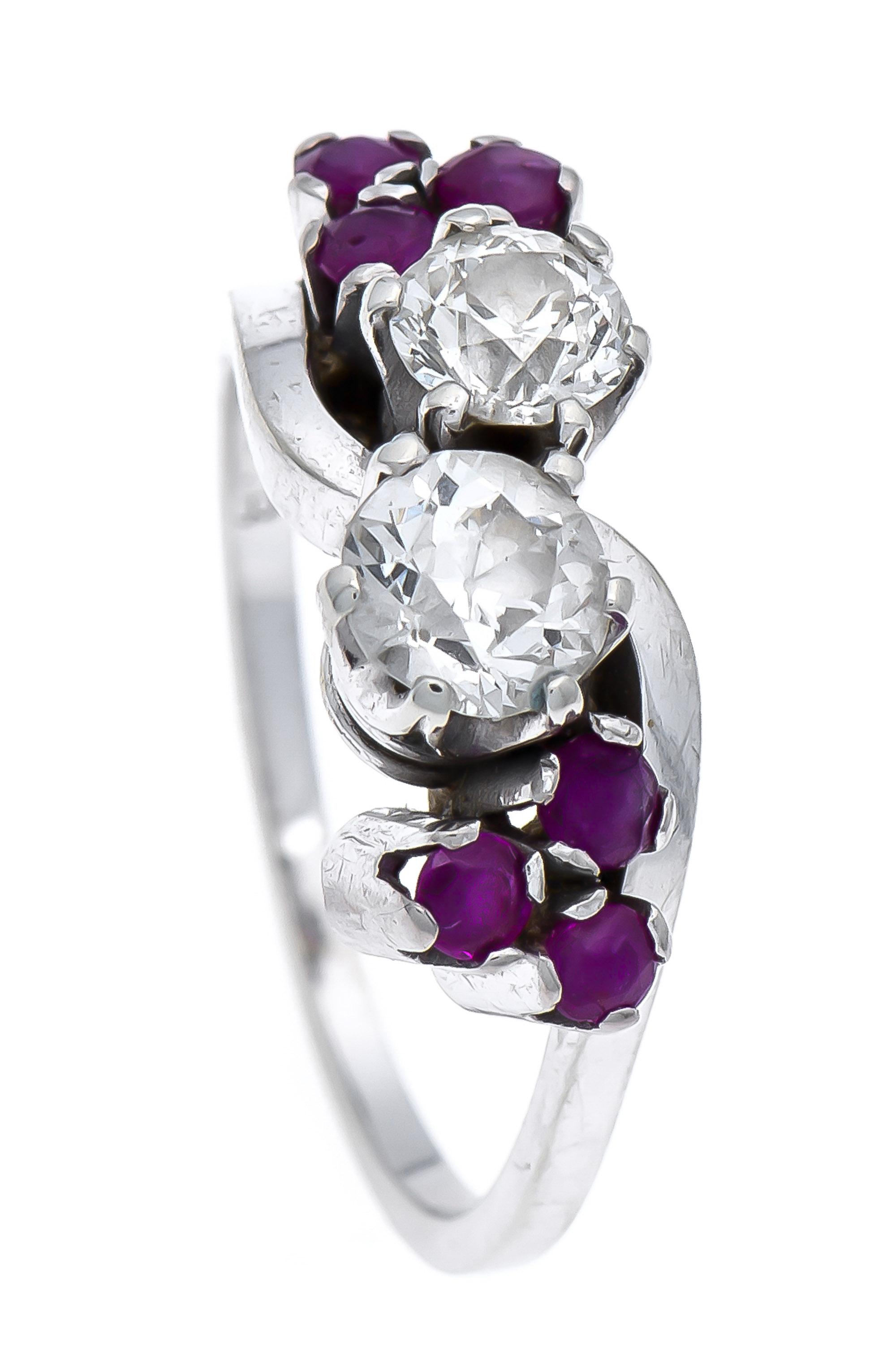 Altschliff-Diamant-Rubin-Ring